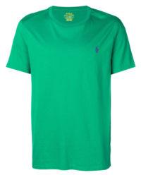 T-shirt z logo zielony