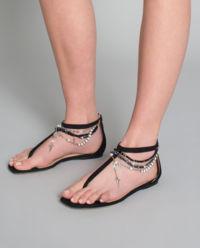 Sandały z zamszowej skóry