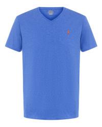 T-shirt z logo niebieski