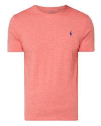 T-shirt z logo pomarańczowy