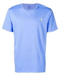 T-shirt niebieski Slim Fit