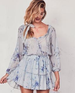 Hedvábné šaty Popover