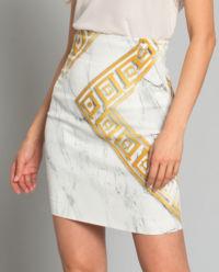 Spódnica z marmurowym printem
