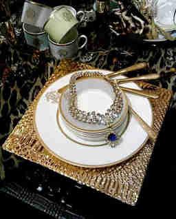 Talerz deserowy Silk Gold