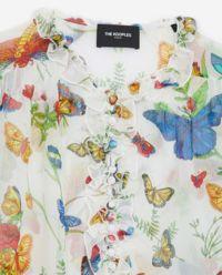 Koszula w motyle  z falbaną