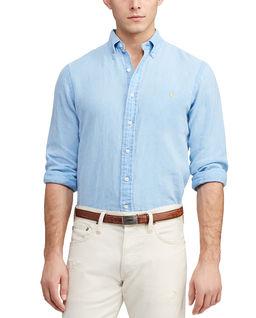 Koszula z lnu Slim Fit