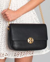Kožená kabelka Chelsea  černá