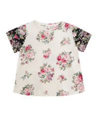 T-shirt w kwiaty 4-10 lat