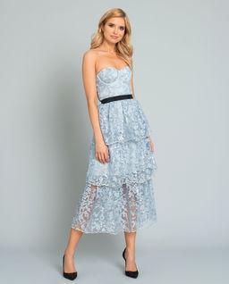 Sukienka z haftowanymi kwiatami
