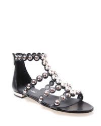 Sandały skórzane z kryształami