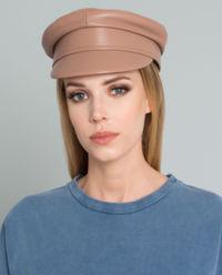 Kožená čepice se štítkem