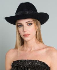 Plstěný, černý klobouk