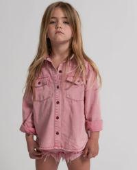 Koszula z denimu różowa