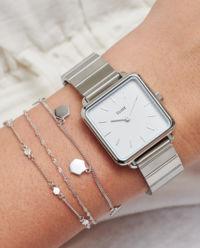 Zegarek La Tetragone Link  Silver/White