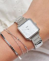 Zegarek La Tetragone Link  Silver/White Pearl