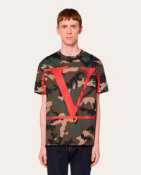 Koszulka camouflage z logo