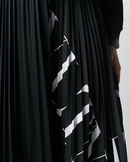 Spódnica midi z logo