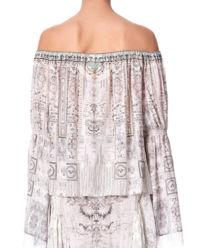 Jedwabna bluzka  z kryształami Swarovskiego