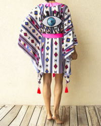 Tunika s flitry Evil Eye Boho