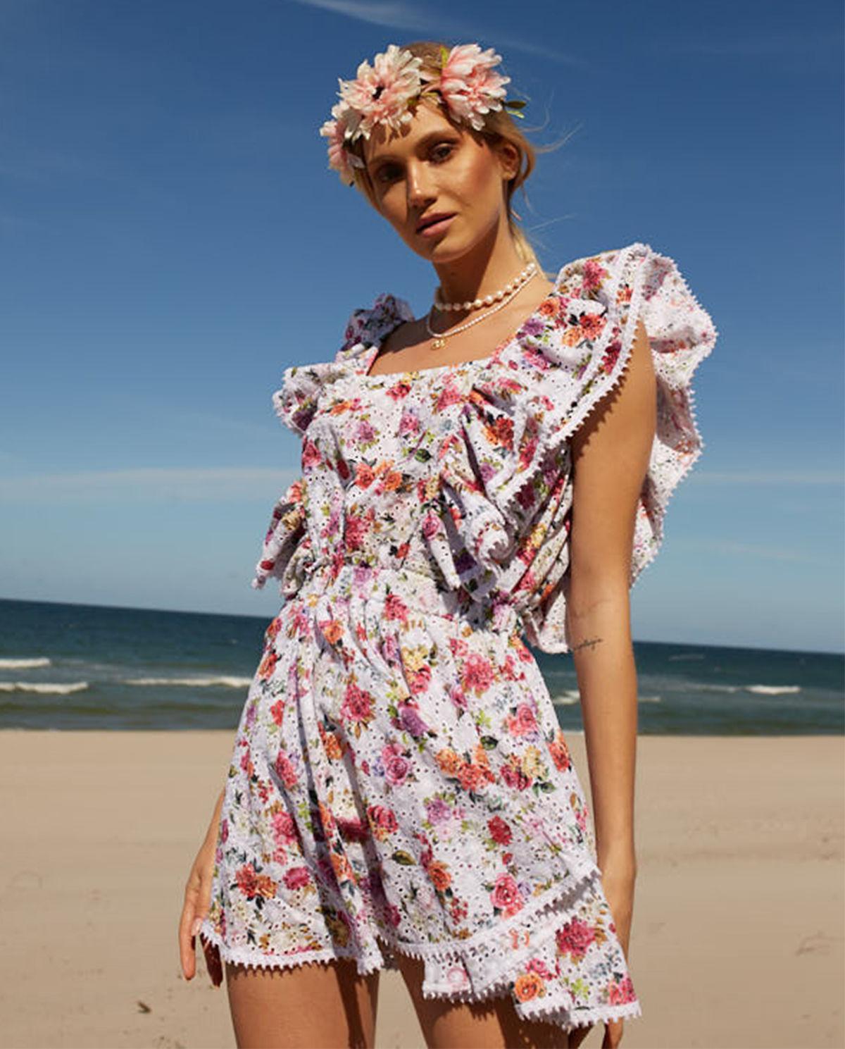 b0466239 Sukienka w kwiaty rosa LOVE & ROSE – Kup Teraz! Najlepsze ceny i ...