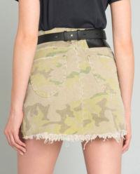 Džinová camo sukně