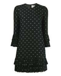 Sukienka z wełny i jedwabiu V-Logo