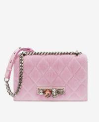 Różowa torebka z kryształami