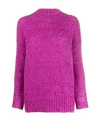 Fialový mohérový svetr