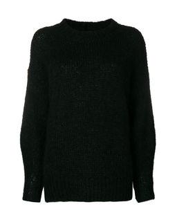 Czarny sweter z moheru