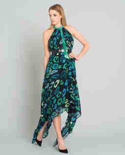 Sukienka midi w panterę