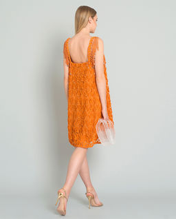 Pomarańczowa sukienka mini