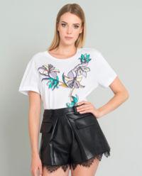 T-shirt z kwiatami