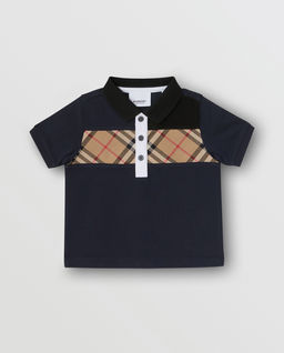 Koszulka polo z kratą 3-14 lat