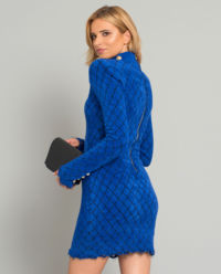 Kobaltowa sukienka mini