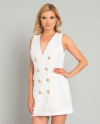 Dwurzędowa sukienka z guzikami