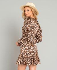 Hedvábné šaty s levhartím vzorem