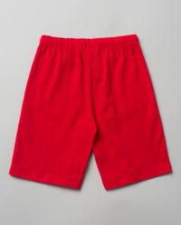 Czerwone spodenki z bawełny