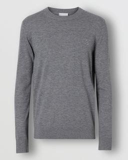 Szary sweter z kaszmiru