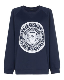 Granatowa bluza z logo