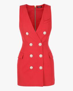 Czerwona sukienka  z guzikami