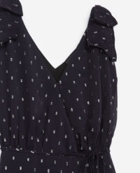 Granatowa sukienka maxi