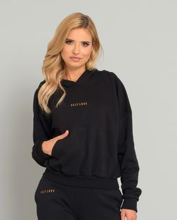 Czarna bluza z kapturem Menfi