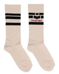 Béžové ponožky s logem