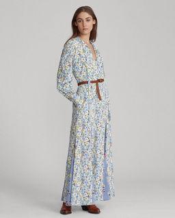 Sukienka maxi z jedwabiu