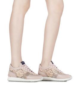 Różowe sneakersy z kryształami Swarovskiego