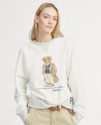 Biała bluza z misiem Polo