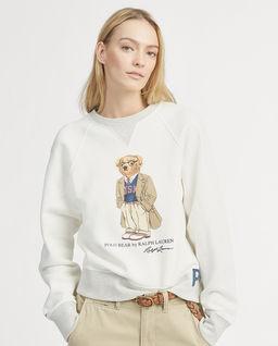 Bílá mikina s medvídkem Polo