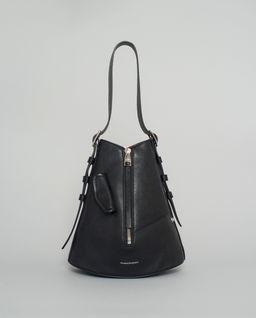 Skórzana torebka biker zip