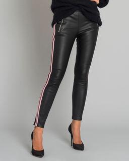 Skórzane spodnie z lampasem