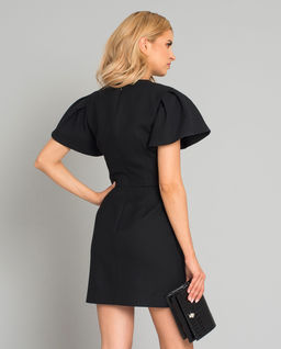 Černé vlněné mini šaty